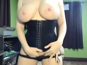 This big boobs blonde MILF is horny
