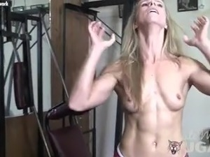 blonde fitness model videos and hd