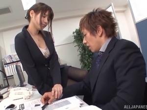 boss secretary blackmail breasts