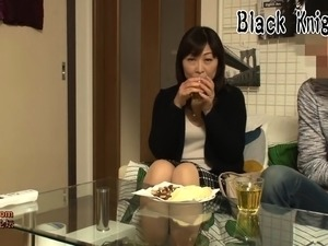 friend cums in my japanese wife