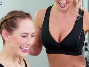 Some good pussy licking time is dedicated by lusty lesbo Carter Cruise
