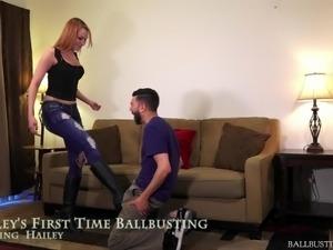 teen ballbusting babes