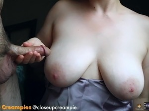 heavy girl cum big tits