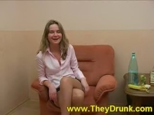 young drunk girl dances naked