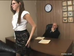 white stockings secretary force sex movie