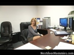 boss secretary blackmail breasts spread her