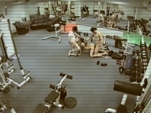 topless gym girls